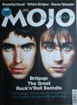 MOJO magazine - Liam Gallagher and Damon Albarn cover (April 2003)