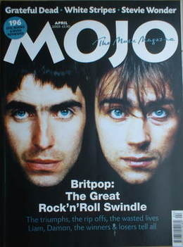 <!--2003-04-->MOJO magazine - Liam Gallagher and Damon Albarn cover (April