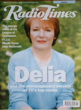 <!--2000-01-08-->Radio Times magazine - Delia Smith cover (8-14 January 200