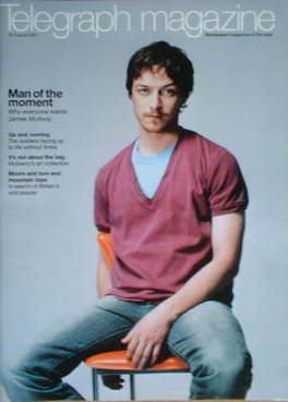 <!--2007-08-25-->Telegraph magazine - James McAvoy cover (25 August 2007)