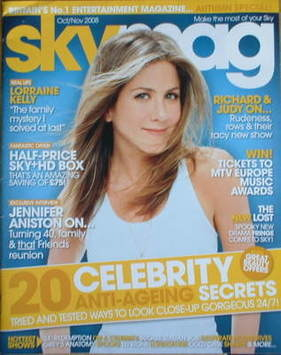 Sky TV magazine - October 2008/November 2008 - Jennifer Aniston cover