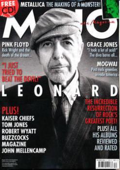 MOJO magazine - Leonard Cohen cover (December 2008)