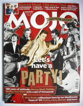 MOJO magazine - Let's Have A Party! cover (January 2000 - Issue 74)