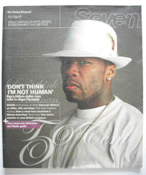 <!--2007-09-02-->Seven magazine - 50 Cent cover (2 September 2007)