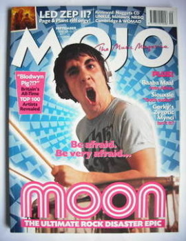 MOJO magazine - Keith Moon cover (September 1998 - Issue 58)
