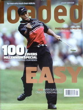 <!--2000-01-->Loaded magazine - Tiger Woods cover (January 2000)