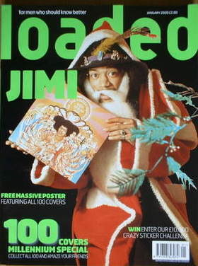 <!--2000-01-->Loaded magazine - Jimi Hendrix cover (January 2000)