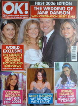 <!--2006-01-10-->OK! magazine - Jane Danson and Robert Beck wedding cover (