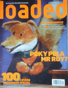 <!--2000-01-->Loaded magazine - Basil Brush cover (January 2000)
