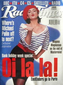 <!--1997-08-23-->Radio Times magazine - Martine McCutcheon cover (23-29 Aug