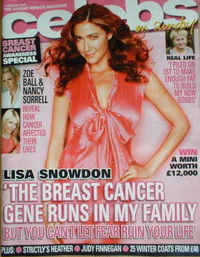 <!--2008-10-05-->Celebs magazine - Lisa Snowdon cover (5 October 2008)