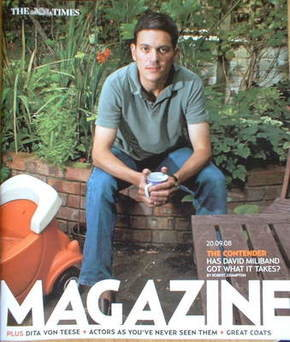 <!--2008-09-20-->The Times magazine - David Miliband cover (20 September 20