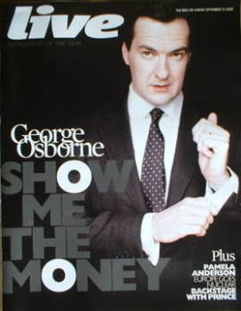 Live magazine - George Osborne cover (21 September 2008)