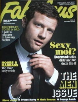 Fabulous magazine - Dermot O'Leary cover (14 September 2008)