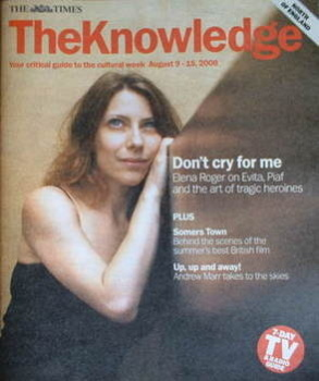 The Knowledge magazine - 9-15 August 2008 - Elena Roger cover