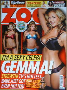 <!--2007-11-16-->Zoo magazine - Gemma Atkinson cover (16-22 November 2007)
