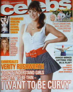 <!--2008-08-10-->Celebs magazine - Verity Rushworth cover (10 August 2008)