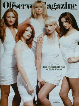 <!--2008-10-05-->The Observer magazine - Girls Aloud cover (5 October 2008)