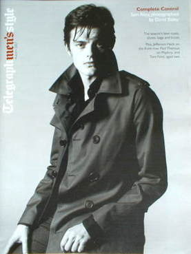 Telegraph Style magazine - Sam Riley cover (Autumn 2007)