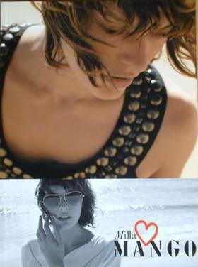 Mango brochure - Milla Jovovich cover
