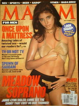 <!--2001-09-->MAXIM magazine - Jamie-Lynn Sigler cover (September 2001 - US Edition)