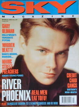 <!--1992-03-->Sky magazine - River Phoenix cover (March 1992)
