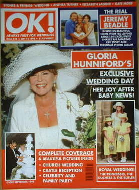<!--1998-09-18-->OK! magazine - Gloria Hunniford cover (18 September 1998 -