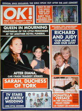 <!--1998-10-02-->OK! magazine - Sarah Duchess of York cover (2 October 1998
