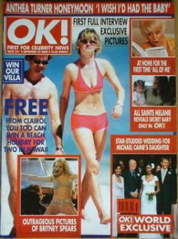 OK! magazine - Anthea Turner and Grant Bovey cover (22 September 2000 - Issue 231)