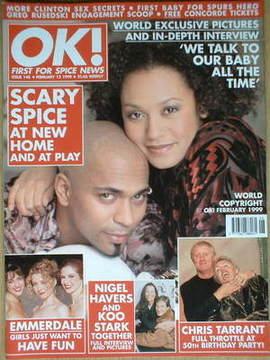 <!--1999-02-12-->OK! magazine - Mel B and Jimmy Gulzar cover (12 February 1