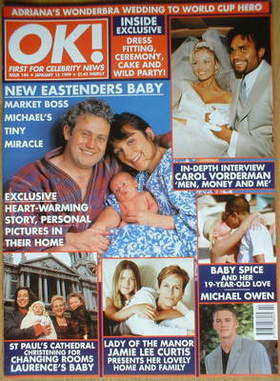 <!--1999-01-15-->OK! magazine - Russell Floyd cover (15 January 1999 - Issu