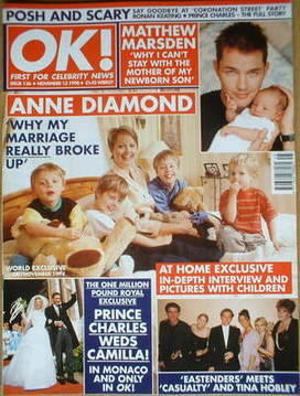 <!--1998-11-13-->OK! magazine - Anne Diamond cover (13 November 1998 - Issu