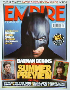 <!--2005-05-->Empire magazine - Batman cover (May 2005 - Issue 191)