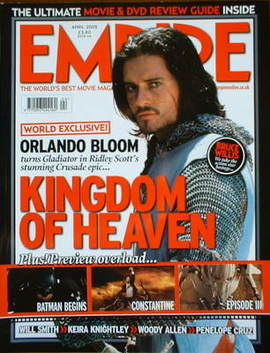 <!--2005-04-->Empire magazine - Orlando Bloom cover (April 2005 - Issue 190