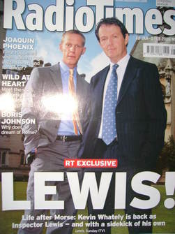 <!--2006-01-28-->Radio Times magazine - Kevin Whately cover (28 January-3 F