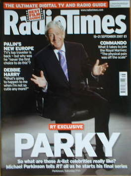 <!--2007-09-15-->Radio Times magazine - Michael Parkinson cover (15-21 Sept