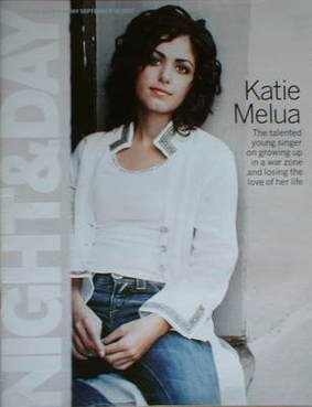 Night & Day magazine - Katie Melua cover (18 September 2005)