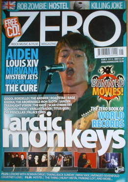 ZERO magazine - Arctic Monkeys cover (May 2006 - Issue 9)