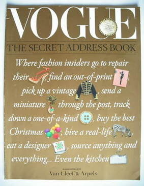 British Vogue supplement - The Secret Address Book (2008)