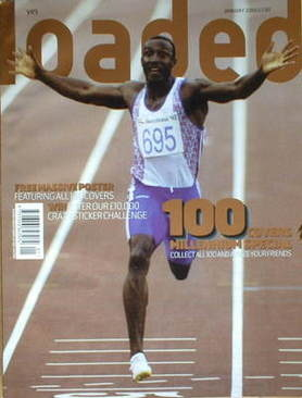 <!--2000-01-->Loaded magazine - Linford Christie cover (January 2000)