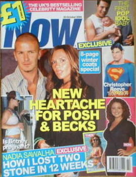 Now magazine - David Beckham and Victoria Beckham cover (20 October 2004)