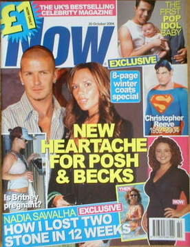 <!--2004-10-20-->Now magazine - David Beckham and Victoria Beckham cover (2