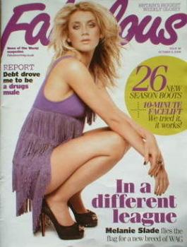 Fabulous magazine - Melanie Slade cover (5 October 2008)