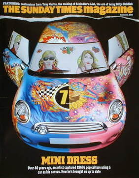 <!--2008-10-12-->The Sunday Times magazine - The Mini car cover (12 October