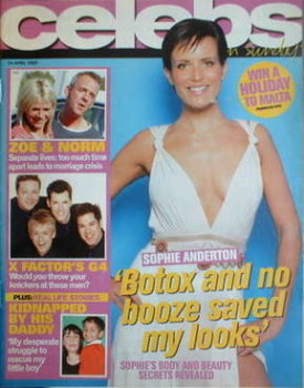 Celebs magazine - Sophie Anderton cover (24 April 2005)