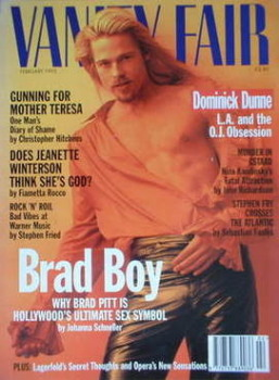 Vanity Fair magazine - Brad Pitt cover (February 1995)