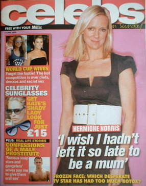 <!--2006-06-04-->Celebs magazine - Hermione Norris cover (4 June 2006)