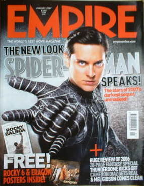<!--2007-01-->Empire magazine - Spiderman cover (January 2007 - Issue 211)