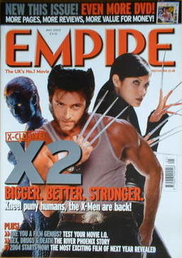 <!--2003-05-->Empire magazine - X2 cover (May 2003 - Issue 167)