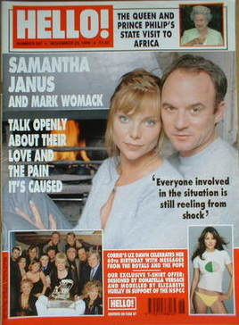 <!--1999-11-23-->Hello! magazine - Samantha Janus and Mark Womack cover (23